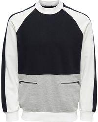Only & Sons Colourblock Sweatshirt - Zwart