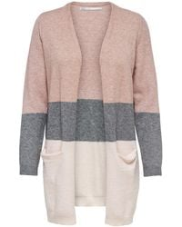ONLY Long Knitted Cardigan - Pink