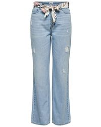 ONLY - Onlmolly Hw Wijde Straight Fit Jeans - Lyst
