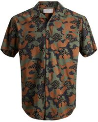 Jack & Jones Camo X Dierenprint Overhemd Met Korte Mouwen - Zwart
