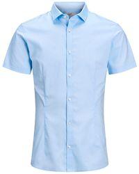 Jack & Jones Super Slim Fit Overhemd Met Korte Mouwen - Blauw