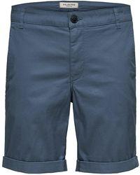 SELECTED Slhparis Regular Fit - Shorts - Blauw