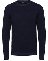 SELECTED Ronde Hals Sweater - Blauw