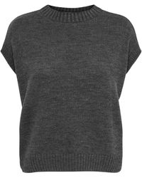 ONLY Knitted Waistcoat - Grijs