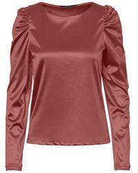 Vero Moda Satijnen Pofmouw Blouse - Rood