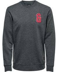 Only & Sons Patch Sweatshirt - Grijs