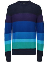 SELECTED Colourblock Sweater - Blauw