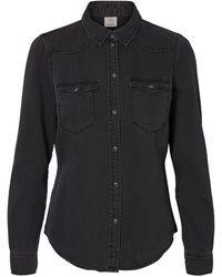 Vero Moda Slim Fit Spijkerblouse - Zwart