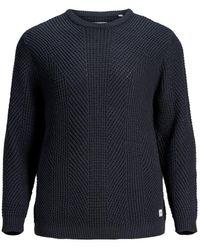 Jack & Jones - Gestructureerde Plus Size Pullover - Lyst