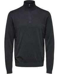 SELECTED - Half Zip - Knitted Cardigan - Lyst