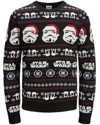 Jack & Jones Kerst Plus Size Pullover - Zwart