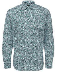 SELECTED Slim Fit Bedrukt Overhemd - Groen