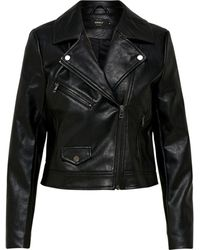 ONLY Leatherlook Jas - Zwart