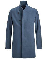 Jack & Jones High-neck-woll- Mantel - Blau