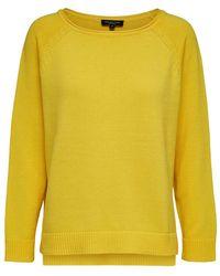 SELECTED Gestructureerde Sweater - Geel