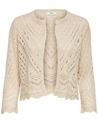 ONLY Cropped Vest Dames Beige - Naturel