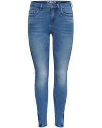 ONLY Onlkendell Ankle Zip Skinny Jeans - Blauw