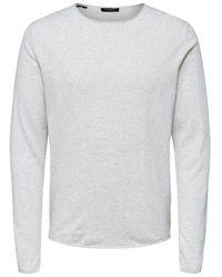 SELECTED Ronde Hals Sweater - Grijs