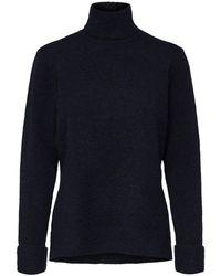 SELECTED Rolkraag Sweater - Blauw