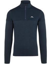 J.Lindeberg Hubbard Halve Rits Midlayer Sweater - Blauw
