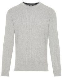 J.Lindeberg Andy Cotton Sweater - Grijs