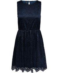 ONLY Spitzen Kleid Ohne Ärmel - Blau