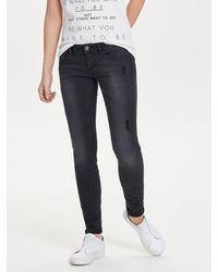 ONLY Onlcoral Sl Skinny Jeans - Zwart