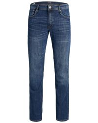 Jack & Jones Tim Original Am 814 Plus Size Slim Fit Jeans - Blau