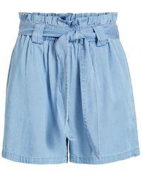 Vila High-waist Denim Short - Blauw