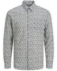Jack & Jones Bedrukt Popeline Overhemd - Wit