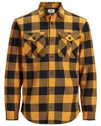 Jack & Jones Wolmix Overshirt - Oranje
