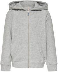 ONLY Hoodie Sweatshirt Dames Grijs