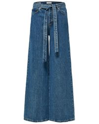 SELECTED High-waist Wide Fit Jeans - Blauw