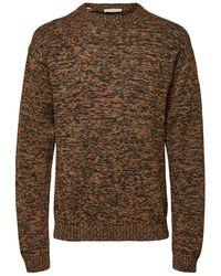 SELECTED Meerkleurige Sweater - Bruin