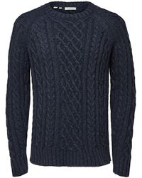SELECTED Fair Isle Sweater - Blauw