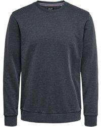 Only & Sons Effen Gekleurd Sweatshirt - Blauw