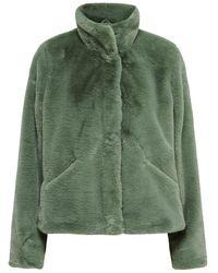 ONLY Faux Fur Jas - Groen