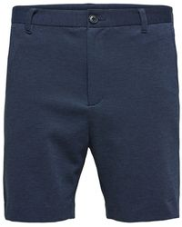 SELECTED Stretch Shorts - Blauw