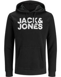 Jack & Jones Nu 20% Korting: Logo Hoodie - Zwart