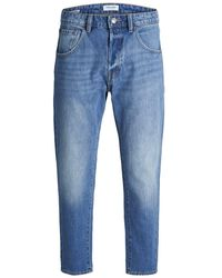 Jack & Jones Frank Leen Cr 073 Ltd Tapered Fit Jeans - Blau