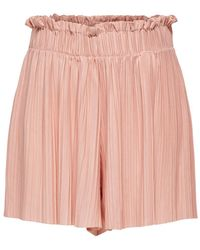 ONLY Plissee Shorts - Pink