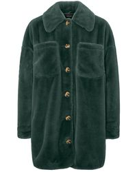 Vero Moda - Faux Fur Shirt Jas - Lyst