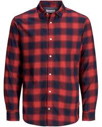 Jack & Jones Jongens Geruit Overhemd - Rood