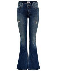 ONLY Onljo Reg Flared Jeans - Blau