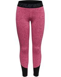 ONLY Kontrastfarbige Trainingstights - Pink