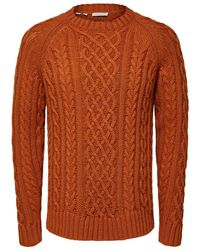 SELECTED Fair Isle Sweater - Oranje