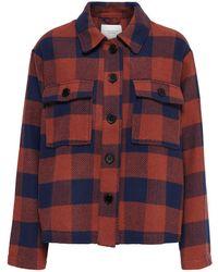 ONLY Geruit Overhemd - Bruin