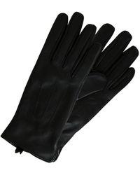 Pieces Leren Handschoenen Zwart