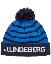 J.Lindeberg Stripe Ball Muts - Blauw