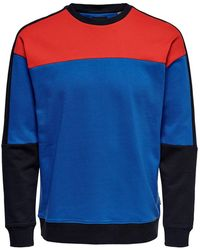 Only & Sons Contrast Sweatshirt - Rood